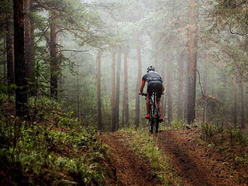 Rowerzysta na trasie