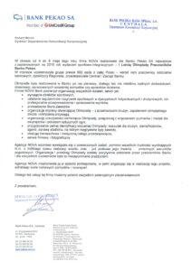 list referencyjny od Banku PEKAO