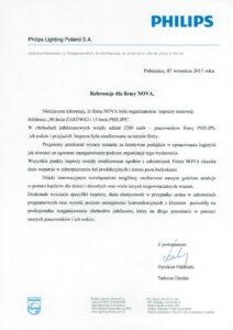 list referencyjny od PHILIPS