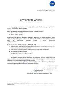 list referencyjny od TVN Fakty
